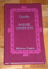 "Catullo ""POESIE COMPLETE"" Biblioteca Classica Euroclub 1ªEd."
