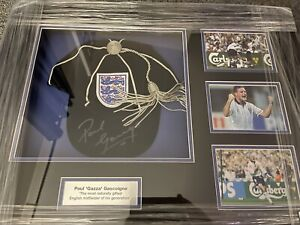 Paul Gascoigne Replica Signed England Cap