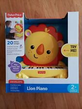 New listing New In Box Fisher Price Lion Piano Music Keyboard Ages 2+ Play Stop Record