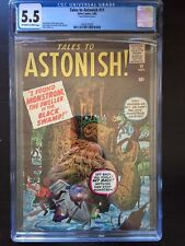 TALES TO ASTONISH #11 CGC FN- 5.5; OW-W; Kirby swamp monster cover (9/60)!