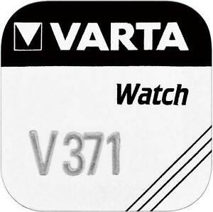 5x VARTA Watch V 371 Uhrenzelle Knopfzelle SR 920 SW V371 Uhrenbatterie 1'er BL