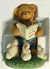 Very Rare Cherished Teddies 676853 Harvey Book Rabbits Grass Jeans Mint Nib 9