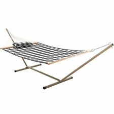 Castaway Hammocks Quilted Hammock Combo with Stand & Pillow, Buffalo Plaid