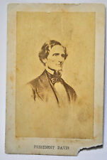 Original Civil War vintage - Jefferson Davis – Confederate South - Cdv