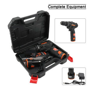 12V Li-Ion Chuck10mm Cordless Drill Electric Driver Tool With Battery No Charger
