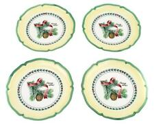 VILLEROY & BOCH FRENCH GARDEN CHRISTMAS PICEA ABIES SALAD OR DESSERT PLATES