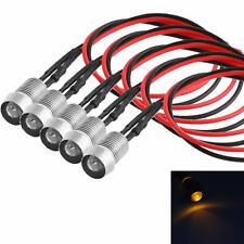 5x LED Amber Indicator Light Lamp Pilot Dash Directional Car Motorcycle Boat 12V