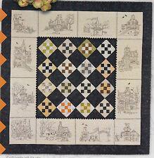 Hocuspocusville - stitchery & pieced quilt PATTERN - Crabapple Hill Designs