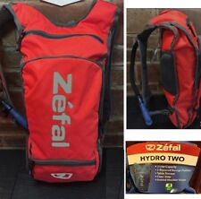 Zefal Hydro Two Liter Red Hydration Backpack w Tablet Storage Zippered Pockets
