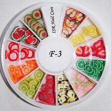 Fimo Früchte im Rondell Nail Art Nagel Design Dekoration Nageldesign Maniküre