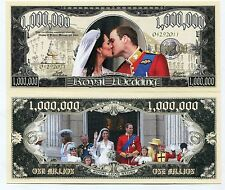 Million Dollar Royal Wedding 2011 Colored Novelty Note