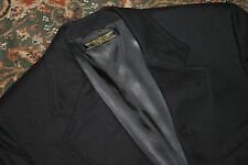 VINTAGE Brooks Brothers Navy Blue Flannel Wool Two Button Blazer 40 42 R USA
