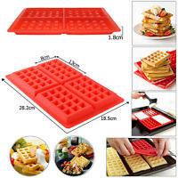 Rectangle Silicone Waffles Pan Cake Baking Baked Cake Chocolate Mold Tray UK