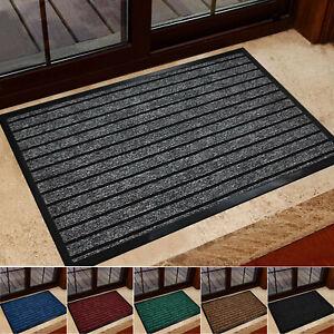 Rubber Backed Door Mat Non Slip Kitchen Mat Heavy Duty Runner Rug Outdoor Indoor