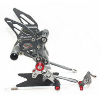 Adjustable Rear sets Foot pegs Pedal Brake Rearset Ducati  1098 / 1098 S Grey