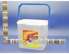 Fustino Contenitore Per Detersivi con manico in plastica trasparente piccolo