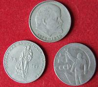 3 Münzen 3 Rubel 100.Geburtsjahr LENIN Sowjetarmee UdSSR СССР Рубль Sowjetunion