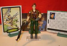 1988 GI JOE TIGER FORCE FLINT WARRANT OFFICER + CARDS VINTAGE ARAH HASBRO cobra
