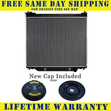 Radiator With Cap For Ford Fits Van E-150 E-250 Econoline 5.4 6.8 7.3 V10 1995WC