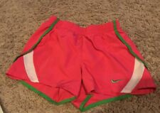 euc NIKE Pink Green Athletic RUNNING SHORTS Youth Girls 6X 6 X