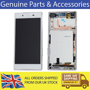 Sony Xperia Z5 LCD Screen Full Frame Assembly Touch Digitizer White Genuine