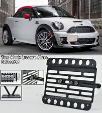 For 2012-Up MINI Cooper Coupe R58 Front Tow Hook License Plate Bracket Mount