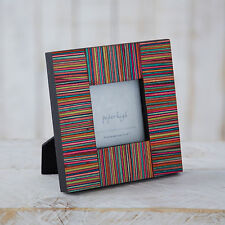 Fair Trade Dhari Hand Craved Mango Wood Multi-coloured Photo Frame - 3 x 3 image