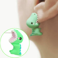 Novelty 3D Animal Polymer Clay Earrings Stereoscopic Dinosaur Ear Stud Earrings