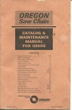 Vintage Chain Saw Manual- Omark Oregon