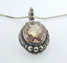 512911ZCW AUTHENTIC LORI BONN STERLING SILVER NOVEMBER FEAST YOUR EYES NECKLACE