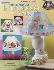 Year-In Year-Out Lampshade Covers, Plastic Canvas Pattern Booklet TNS 844233 HTF