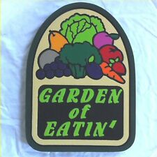 Garden of Eatin 3D routed carved plaque Organic farm wood sign Custom
