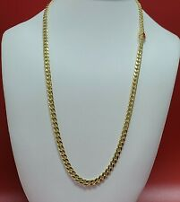 """14k yellow Gold Miami Cuban Curb Link 24"""" 5.5mm 16.6gram chain/Necklace"""