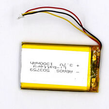 3.7 V 1300mAh 503759 3Pin Li Polymer Rechargeable Battery With connector for GPS