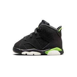 Nike Air Jordan Retro 6 VI Electric Green and Black Toddler TD Size 384667 003