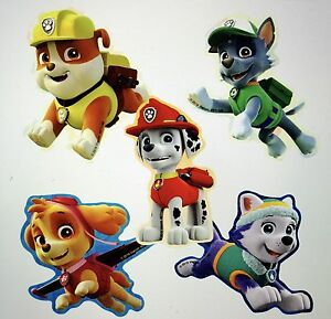 25 Paw Patrol Shaped Stickers Party Favors Marshall Rocky Skye Everest Rubble