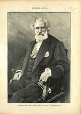 Ambroise Thomas Directeur du Conservatoire de Paris GRAVURE ANTIQUE PRINT 1896