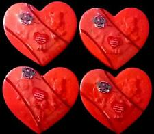 4 Nickelodeon Paw Patrol Plastic Heart Boxes with Lollipops & Candy Hearts