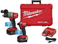 Milwaukee 2996 22 M18 Fuel Hammer Drillimpact With One Key Combo Kit