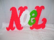 "Vintage Christmas Melted Popcorn Plastic ""NOEL"" 21"" Long Holiday Wall Decor"