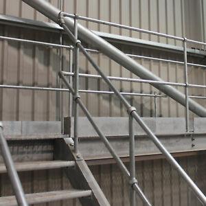 Galvanised Handrail Stanchions Tubular Standards Sticks Ball Posts Walkway Bends