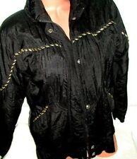 Vintage Lavon Jacket Black W/ Gold Trim Lightweight Petite Small Womens Ps Xlnt