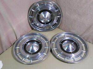 """1960 BUICK Hub Caps (3) Electra / LeSabre 15"""" Wheel Covers Hubcaps"""
