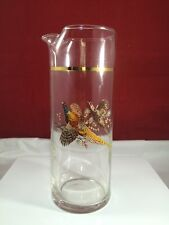 Clear Glass Beverage, Water, Pitcher with birds