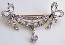 Stunning Antique Victorian Diamond set 'Swag Motif' Brooch c1895