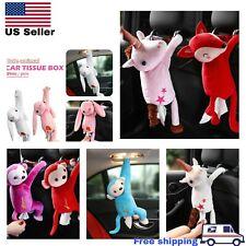 Car Hanging Monkey Tissue Paper Napkin Box Holder Cartoon Animal Pumping Paper