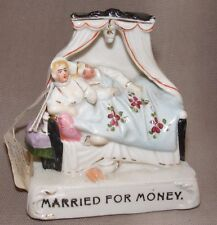 ANTIQUE GERMAN FAIRING FIGURINE PORCELAIN MARRIED FOR MONEY HUSBAND AND WIFE
