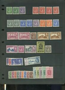 St Lucia mid period MH collection inc defin sets