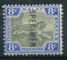 Malaya 1901 Mi. 19 Nuovo * 100% Saggio, 8 C, Tigre, filigrana 1