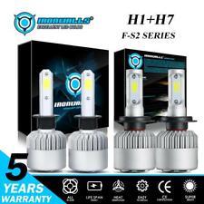 4PCS Combo H1 + H7 LED Headlight 4000W 600000LM Bulb Kit Hi-Lo Beam Xenon 6500K